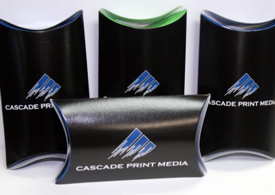 Pillow Boxes. Perfect for small gifts, especially items which are not imprinted with your logo.
