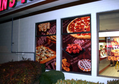 The same window graphics are configured for fewer windows at a third location.